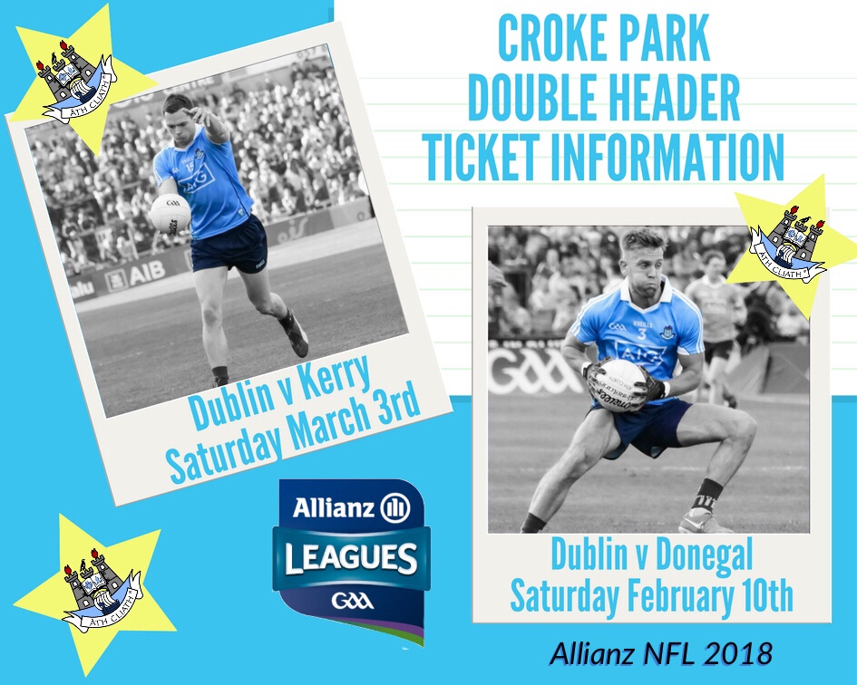 TICKET INFORMATION FOR CROKE PARK NFL DOUBLE HEADERS
