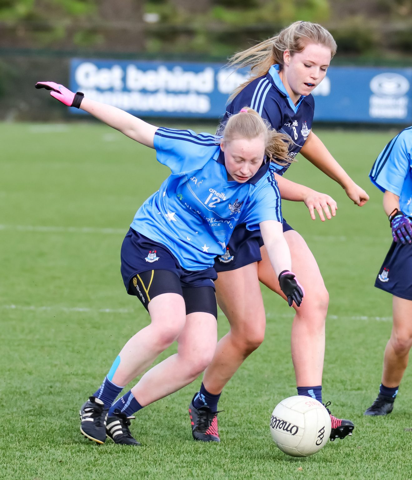 Image Of Ciara McDunphy And Jenny Kelly In action During The Junior Dubs star Game