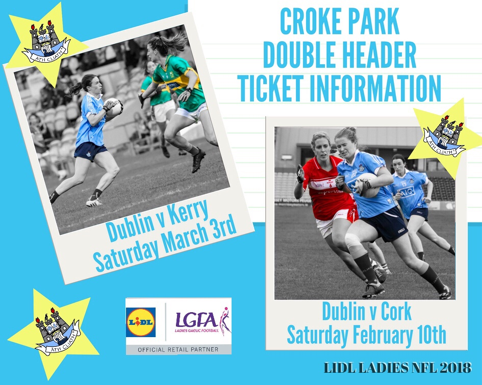 Poster Advertising Croke Park Double Header Ticket Information