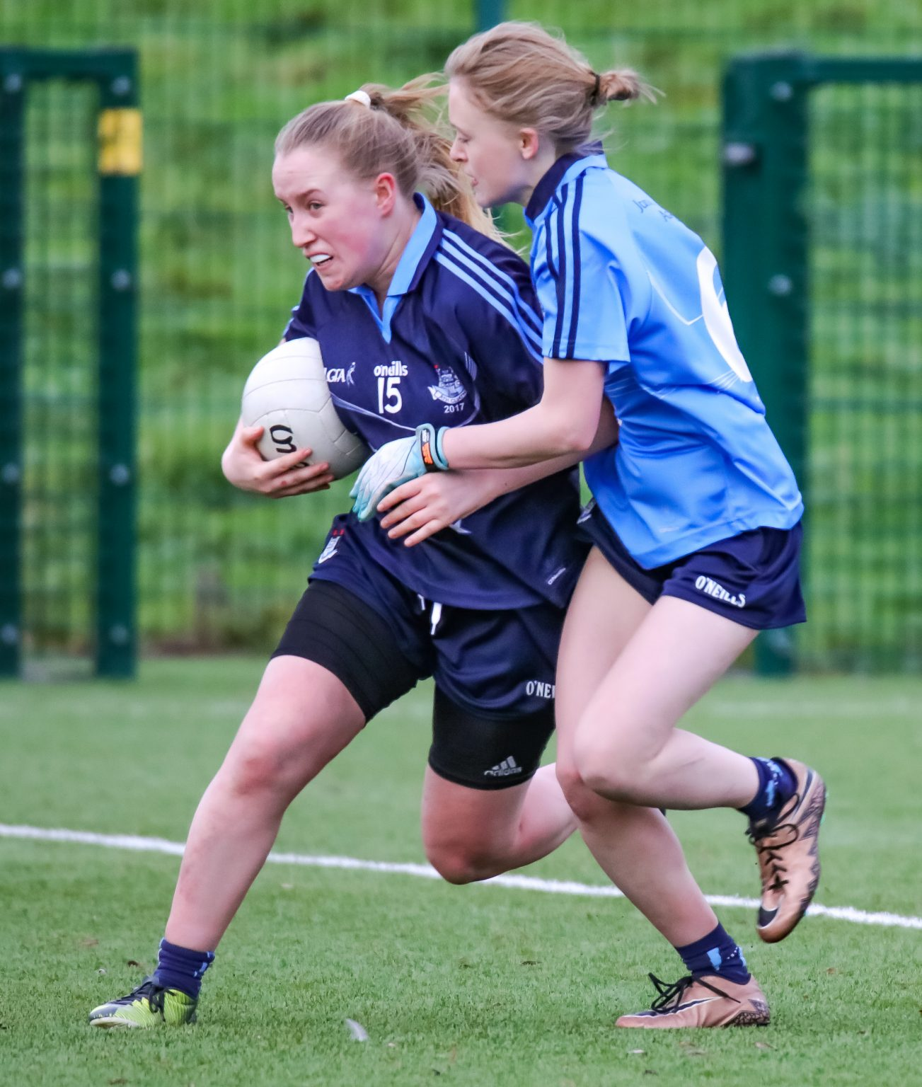 Image Of Clara O'Sullivan Heads For Goal In The Junior Dub Stars Game