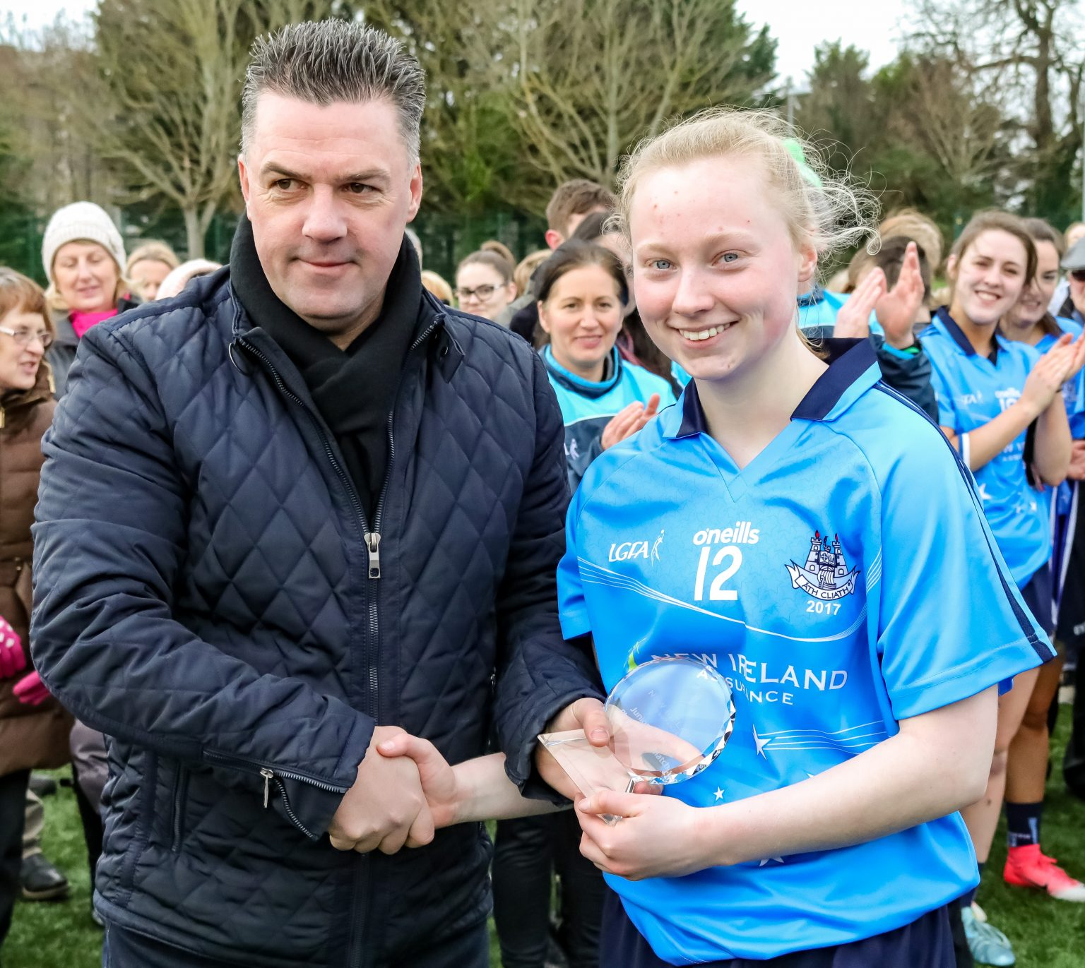 Image Of Player Of The Match From The Junior Dub Stars Ladies Football Game Ciara McDunphy
