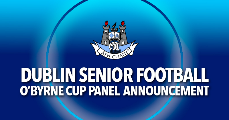 O'Byrne Cup Panel Announcement