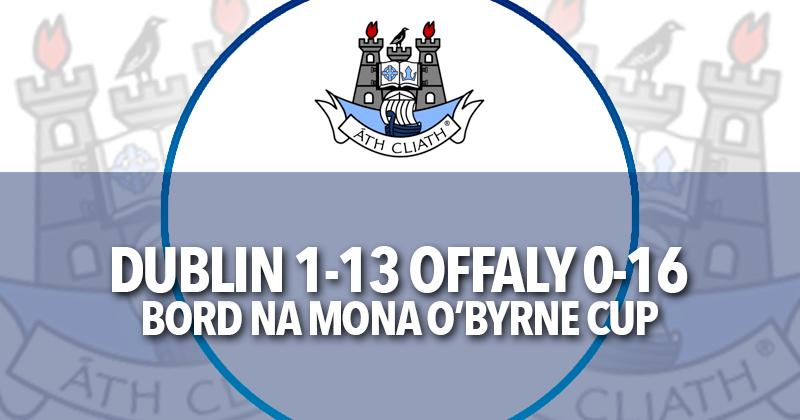 O'Byrne Cup Result Dublin v Offaly