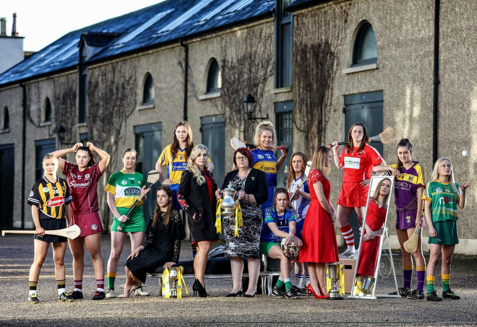 23dc929fb4ab Image Of Camogie Players At The Irish Museum Of Modern Art For The Official  Launch Of