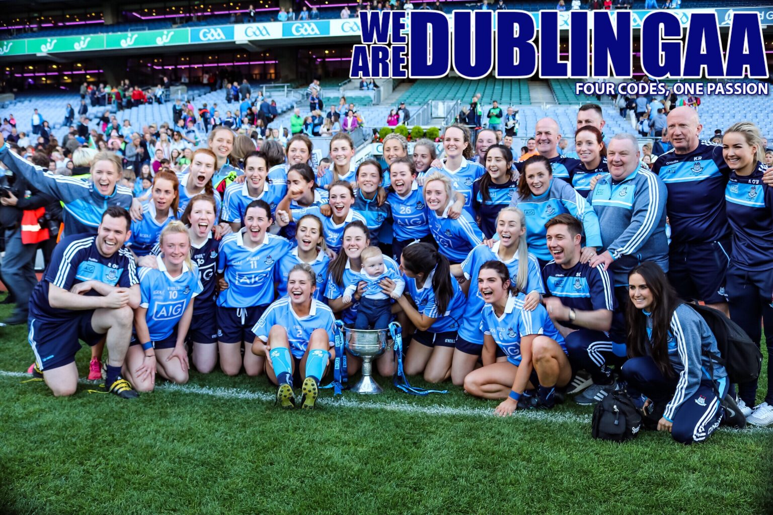 Dublin Ladies Football Squad Enjoying The Celebrations After Winning The 2017 All Ireland Title