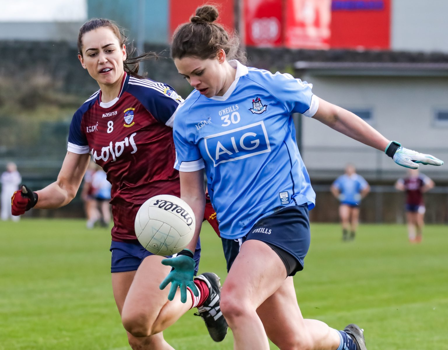 Dublin Forward Noelle Healy In Action Against Westmeath In Today's Lidl Ladies National Football League Game In St Lomans GAA Club In Mullingar