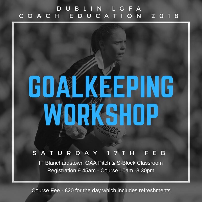 "DUBLIN LADIES FOOTBALL GOALKEEPING WORKSHOP ""COACHING YOUR GOALKEEPER"" TAKES PLACE NEXT SATURDAY"