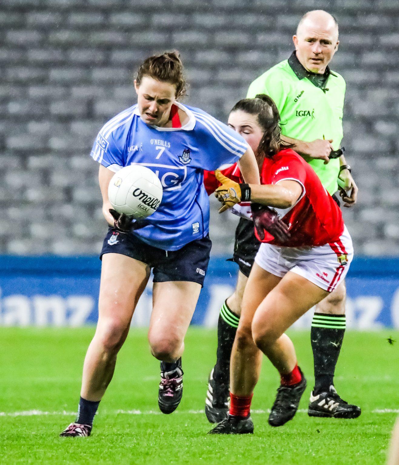 Dublin Defender Muireann Ní Scanaill In Action Against Cork