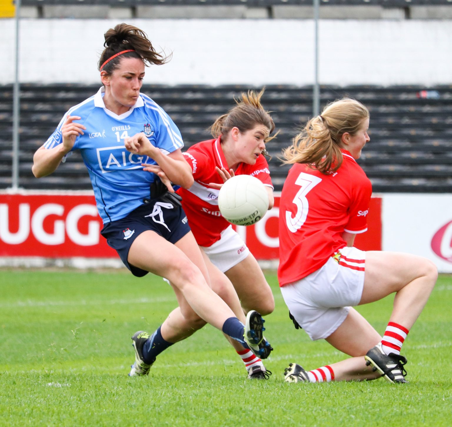 Dublin's Niamh McEvoy Shoots For A Score Against Cork In Last Seasons Lidl Ladies National Football League Semi Final