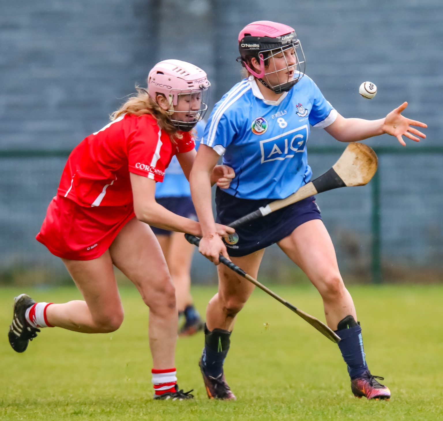 Action From Today's All Ireland Minor Camogie Championship Game Between Dublin And Cork