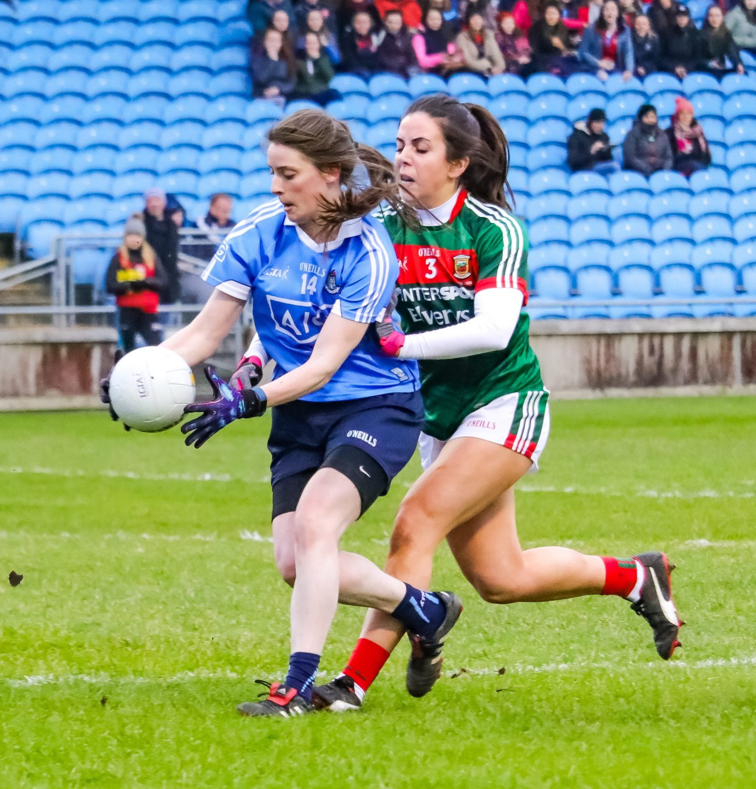 Oonagh Whyte Scored Two Goals Tonight Against Mayo As The Dublin's Ladies Recoded Their Fourth Win In A Row In the Lidl Ladies NFL (Mandatory Credit: We Are Dublin GAA)