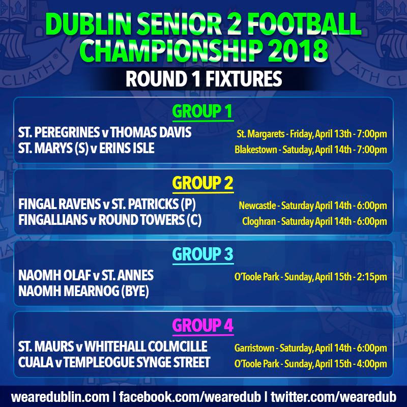Senior Football Championship 2 Round 1