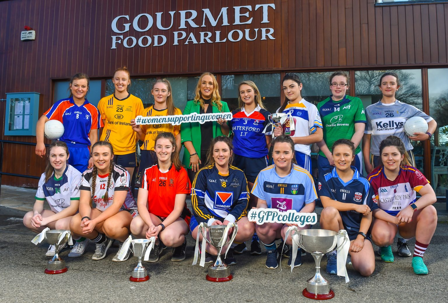 Players Involved In This Weekends HEC Championships Pictured At Gourmet Food Parlour For The Announcement That The O'Connor Cup Final Will Be Broadcast Live On YouTube