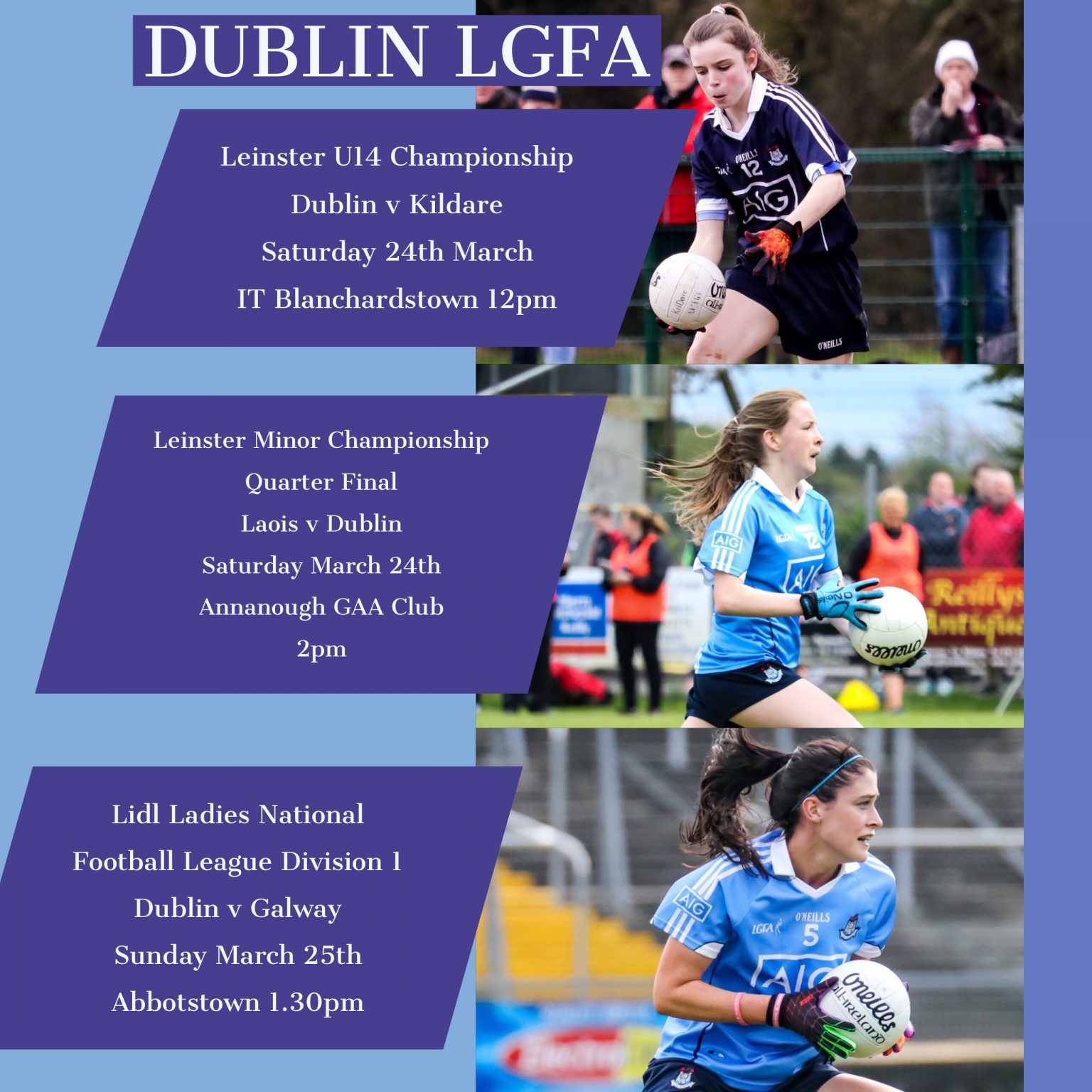Action Packed Weekend For Dublin Ladies Football Squads