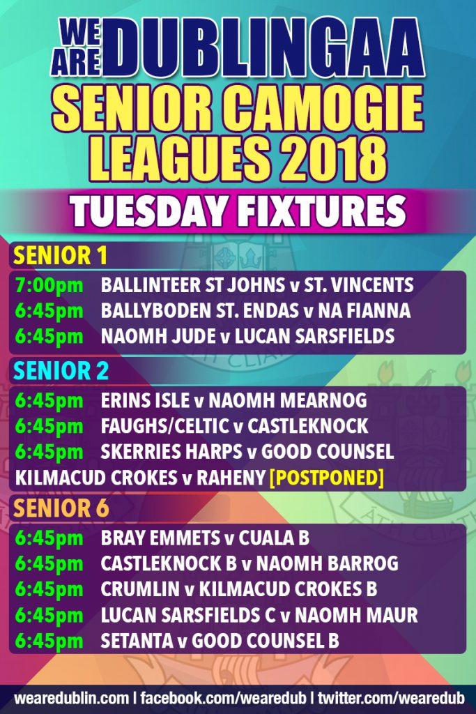 We Are Dublin GAA Senior Camogie League Tuesday