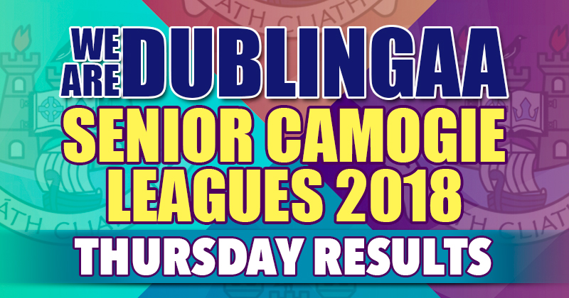 We Are Dublin Senior Camogie Leagues – Thursday Results