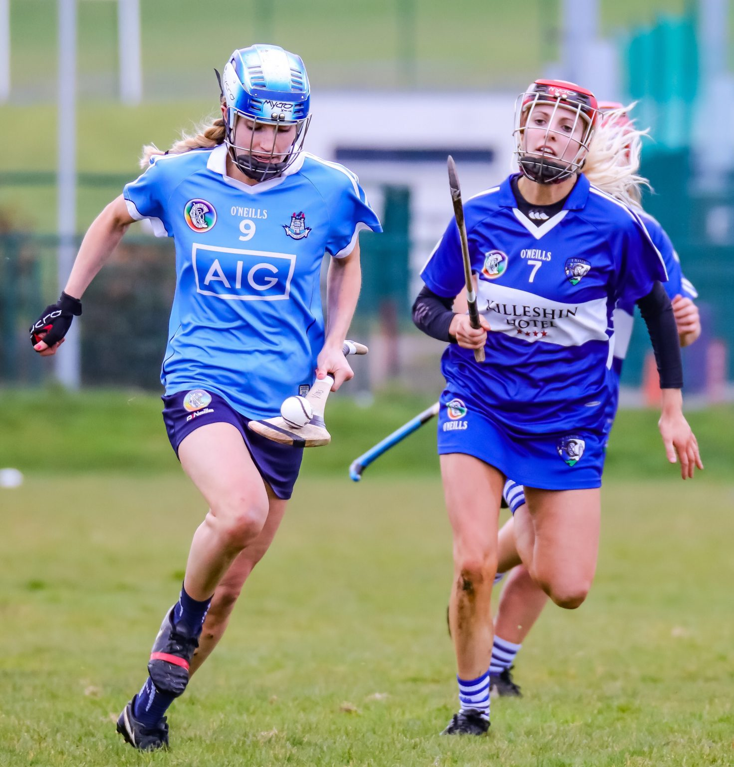 Action Shot From Dublin's Premier Junior Camogie Team Win Over Laois Which Put Them One Win From League Semi Finals