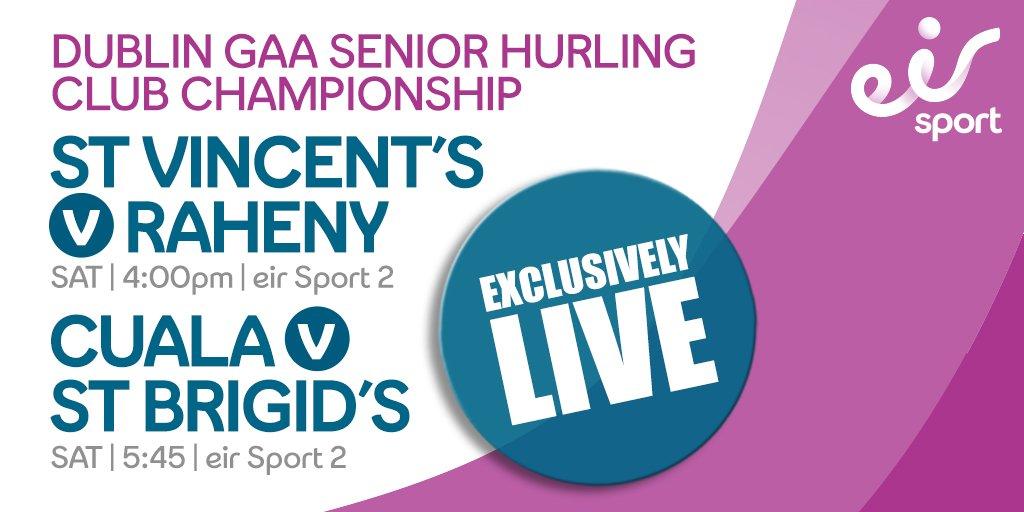 Dublin Senior Hurling Championship Double Bill Live on EirSport