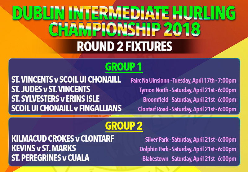 Dublin Intermediate Hurling Championship Fixtures