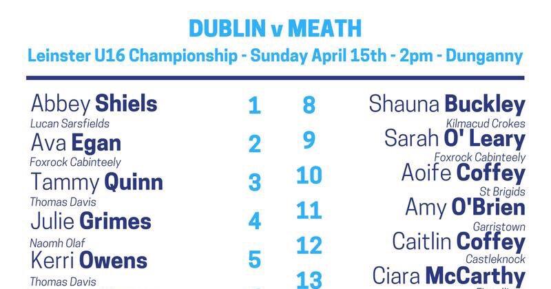 Team News: Dublin U16 Ladies Footballers Face Meath In Last Group Game Today