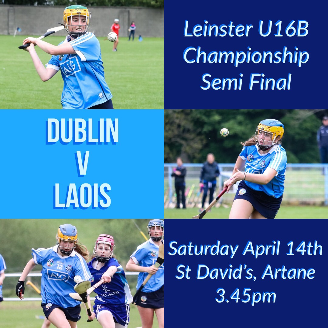 Dublin U16B Camogie Team Face Laois In Leinster Championship Semi Final
