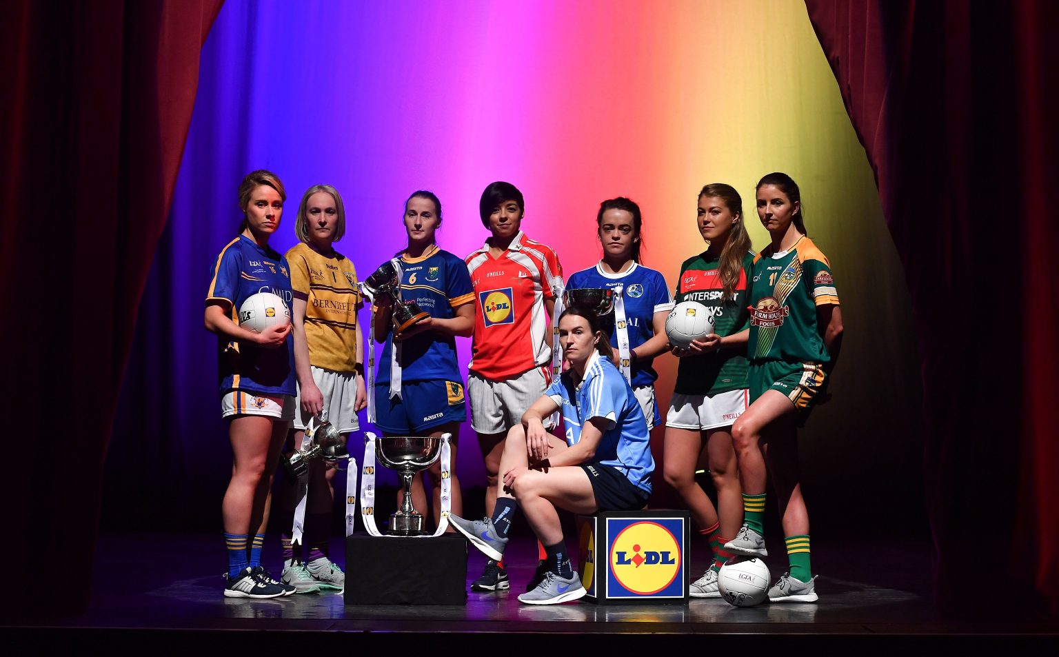 8 Players From The Counties Who Will Contest The Lidl Ladies National Football League Finals On Stage At The Helix