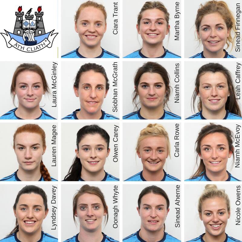 Head shots of the Dublin Ladies Football team picked for this weekend's TG4 SFC Qualifier against Cavan