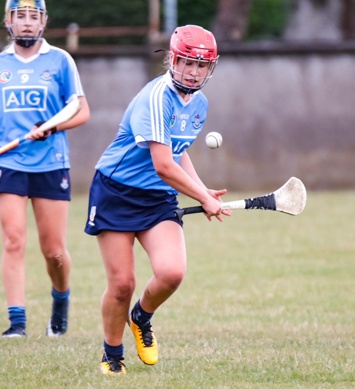 Dublin Camogie Player in sky blue jersey and navy Skort both the Dublin U16A and U16B squads are in All Ireland semi final action