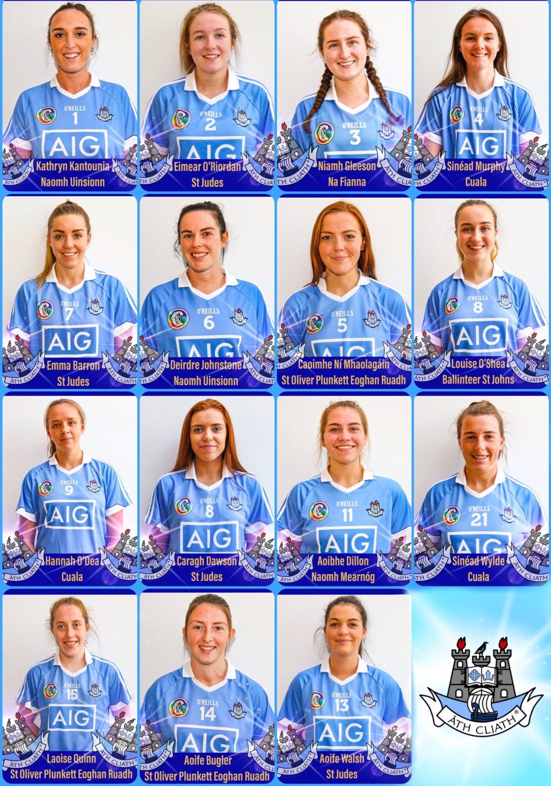 Head Shots of the Dublin Premier Junior team announced for the Premier Junior All Ireland Final