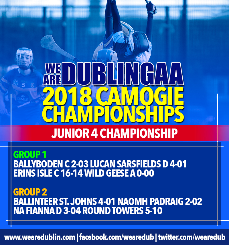 We Are Dublin GAA Intermediate and Junior Camogie Championships