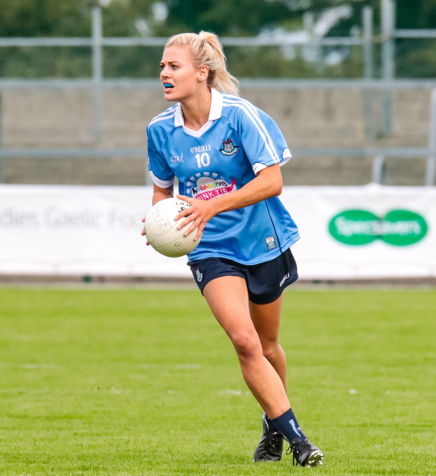 Dublin Ladies Footballer Nicole Owens in a sky blue jersey and navy shorts says Dublin are looking at creating a legacy