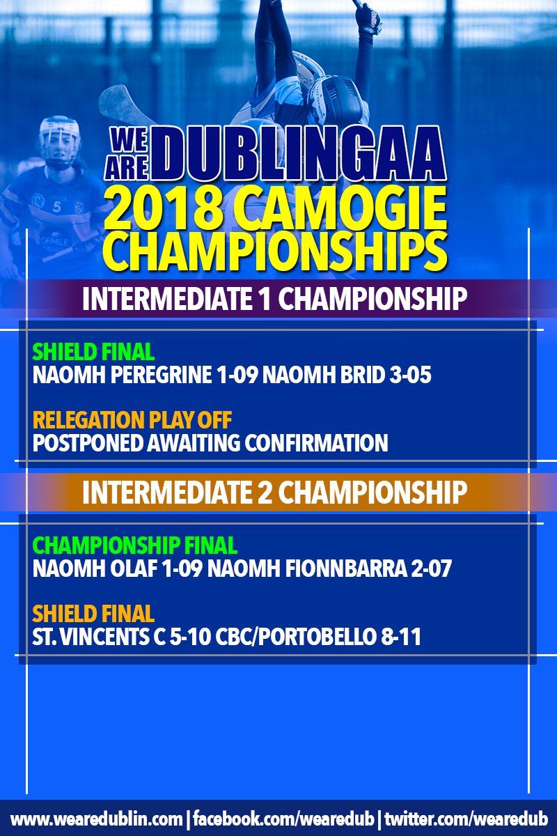 We Are Dublin GAA Intermediate and junior Camogie Championship