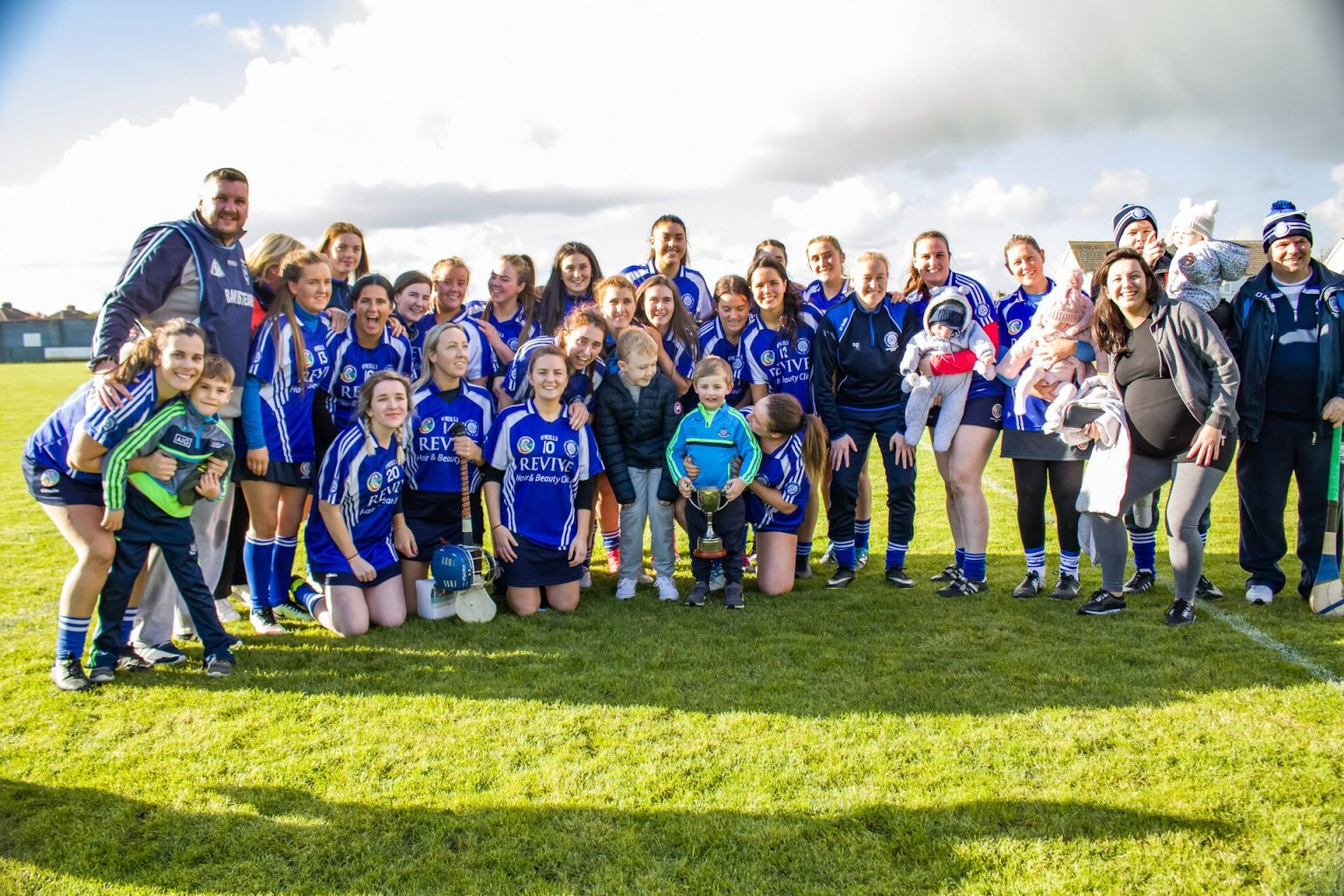 Crumlin Camogie Team In Blue Jersey took part in the club championship finals