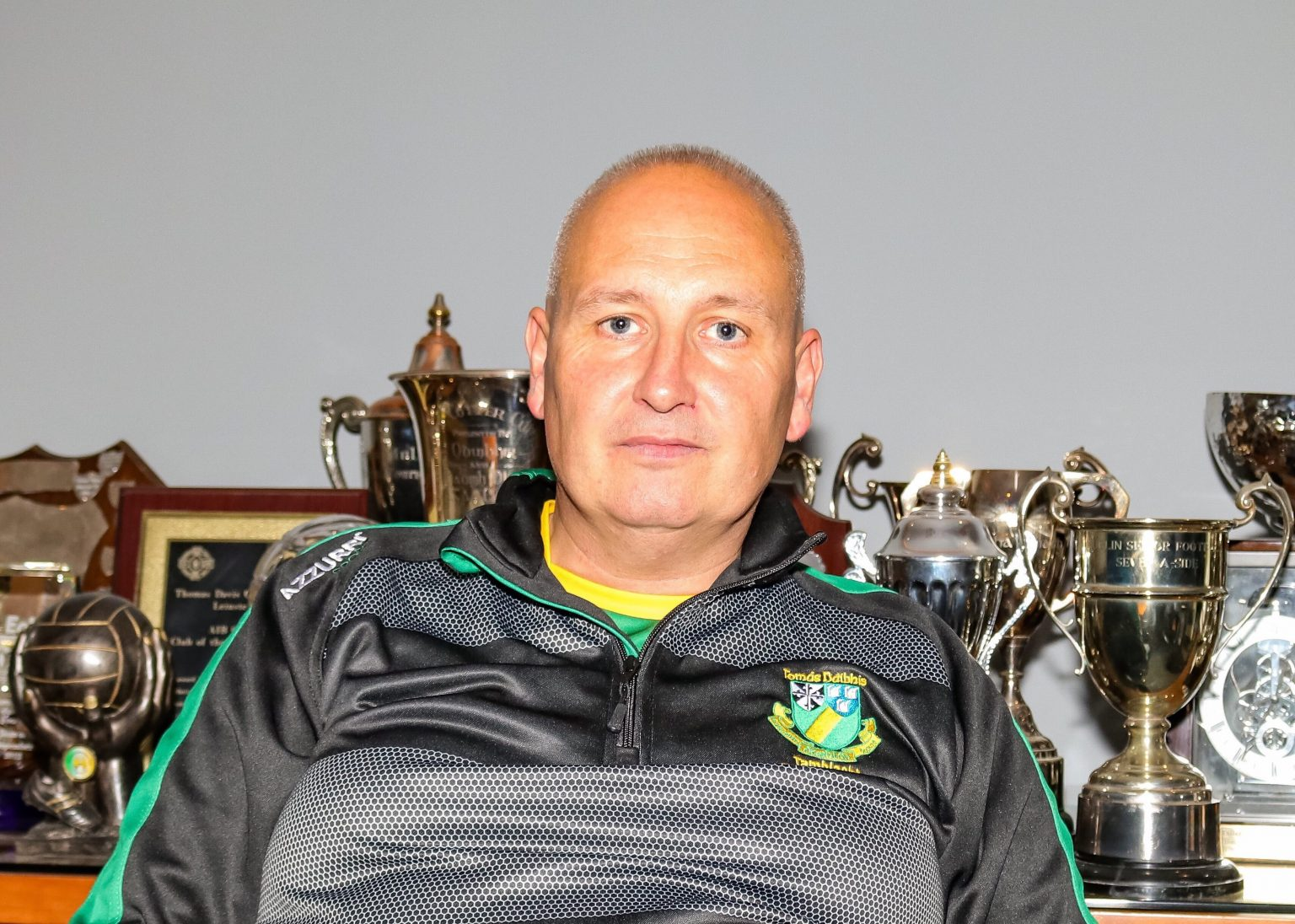 Dublin U16 Camogie Manager Jonny Jackson in a black and grey top is seeking player nominations for upcoming trials
