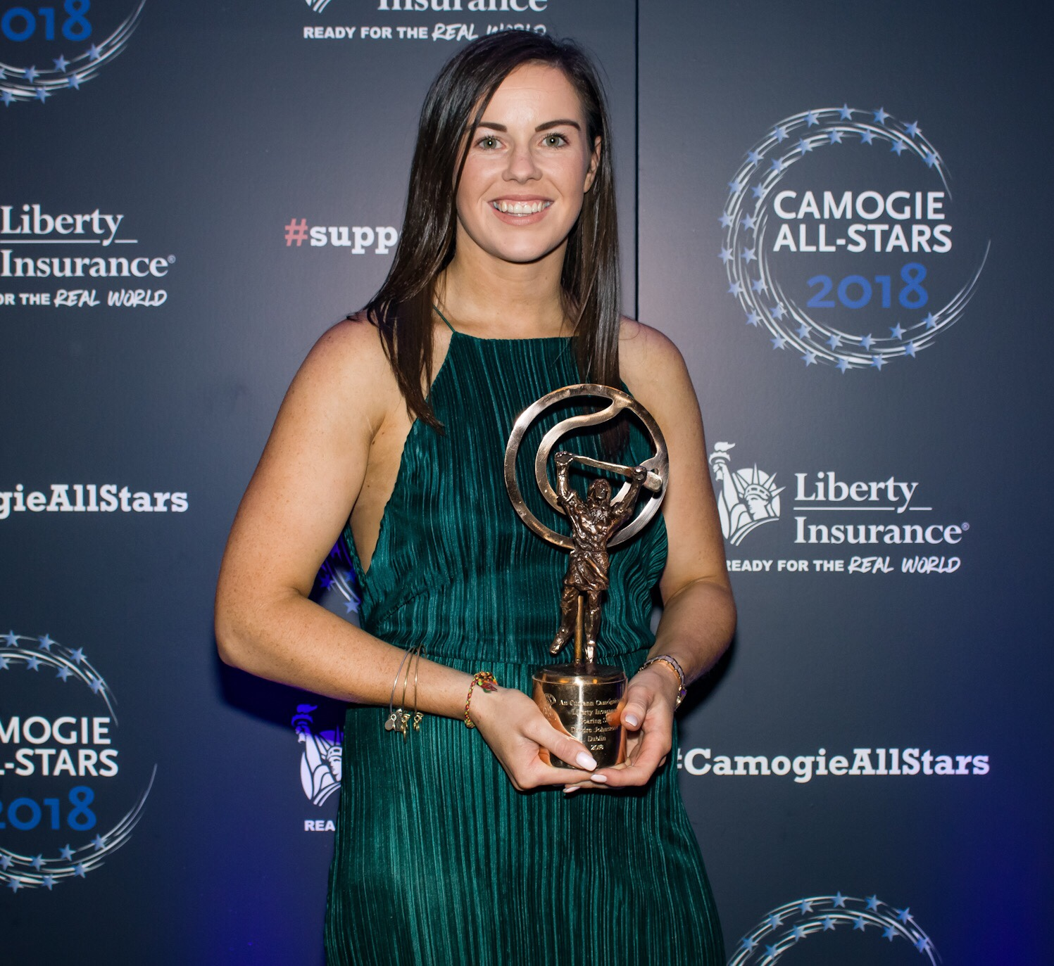 Dublin's Deirdre Johnstone With Her Soaring Stars Award At Last Nights Camogie All-Stars Awards In the Citywest Hotel