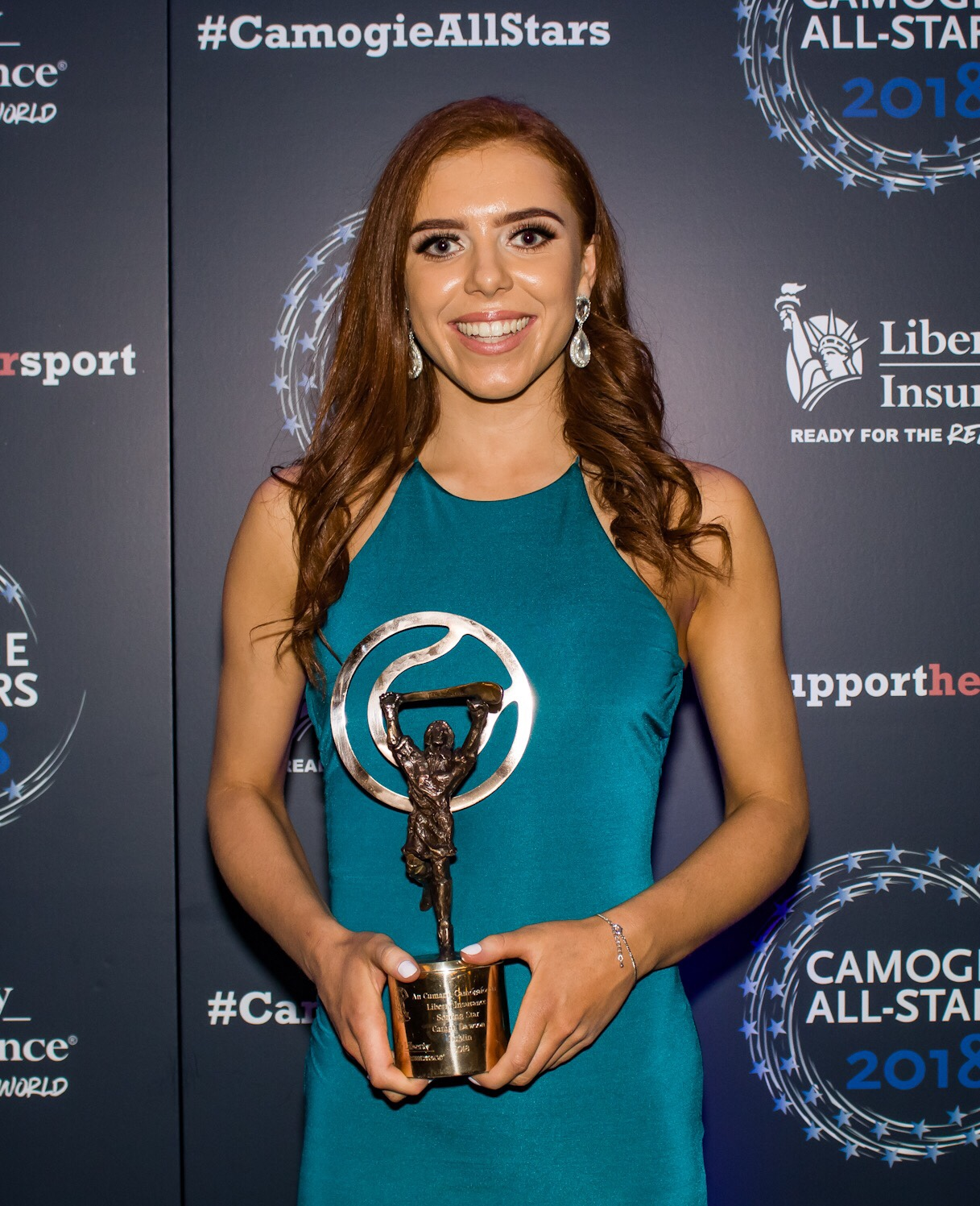 Dublin's Caragh Dawson With Her Soaring Stars Award At Last Nights Camogie All-Stars Awards In the Citywest Hotel
