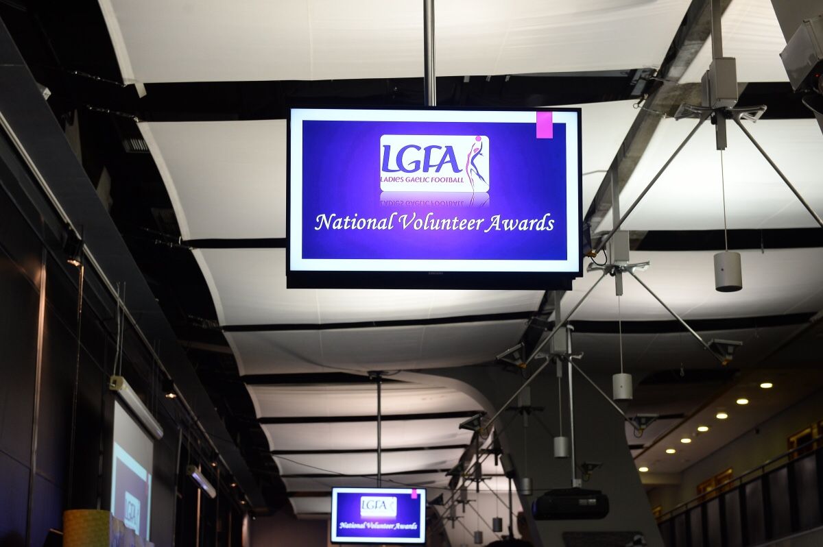 Image of a sign for the LGFA Volunteer Of The Year Awards