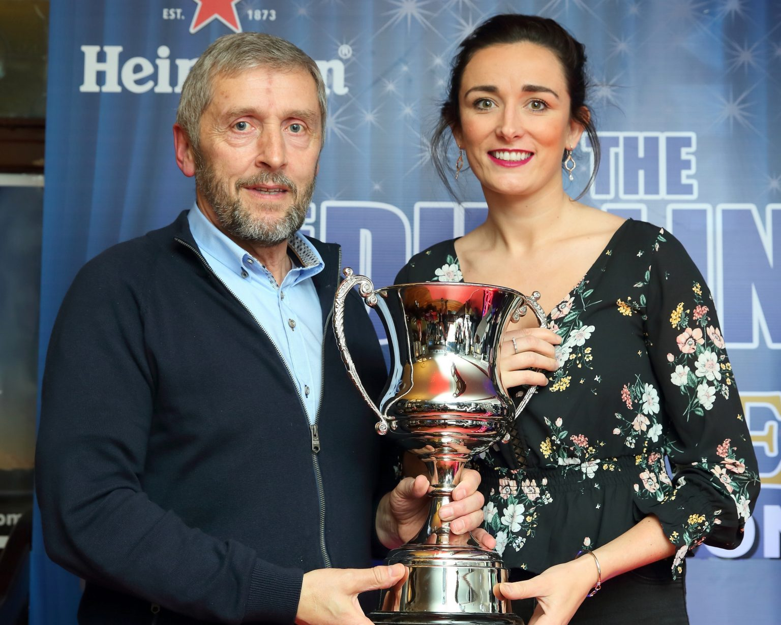 Dublin Ladies Football Chair Joe Keane Presents Niamh McEvoy With The Ladies Football Player Of The Year Trophy At The We Are Dublin GAA/Kennedy's Drumcondra Awards Night
