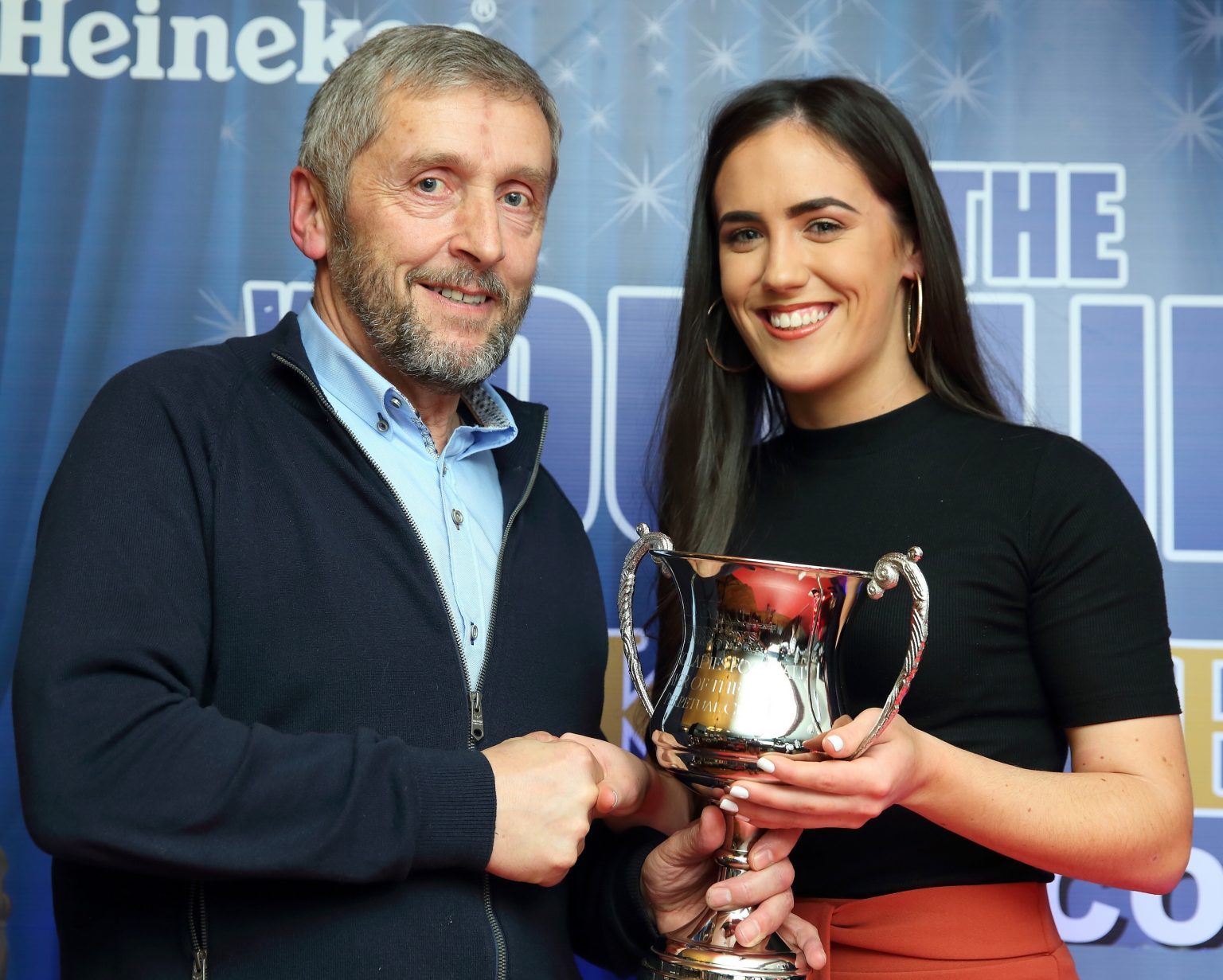 Dublin Ladies Football Chair Joe Keane presents Hannah O'Neill with the Ladies Football Young Player Of The Year Trophy At the We Are Dublin GAA/Kennedy's Drumcondra Awards Night