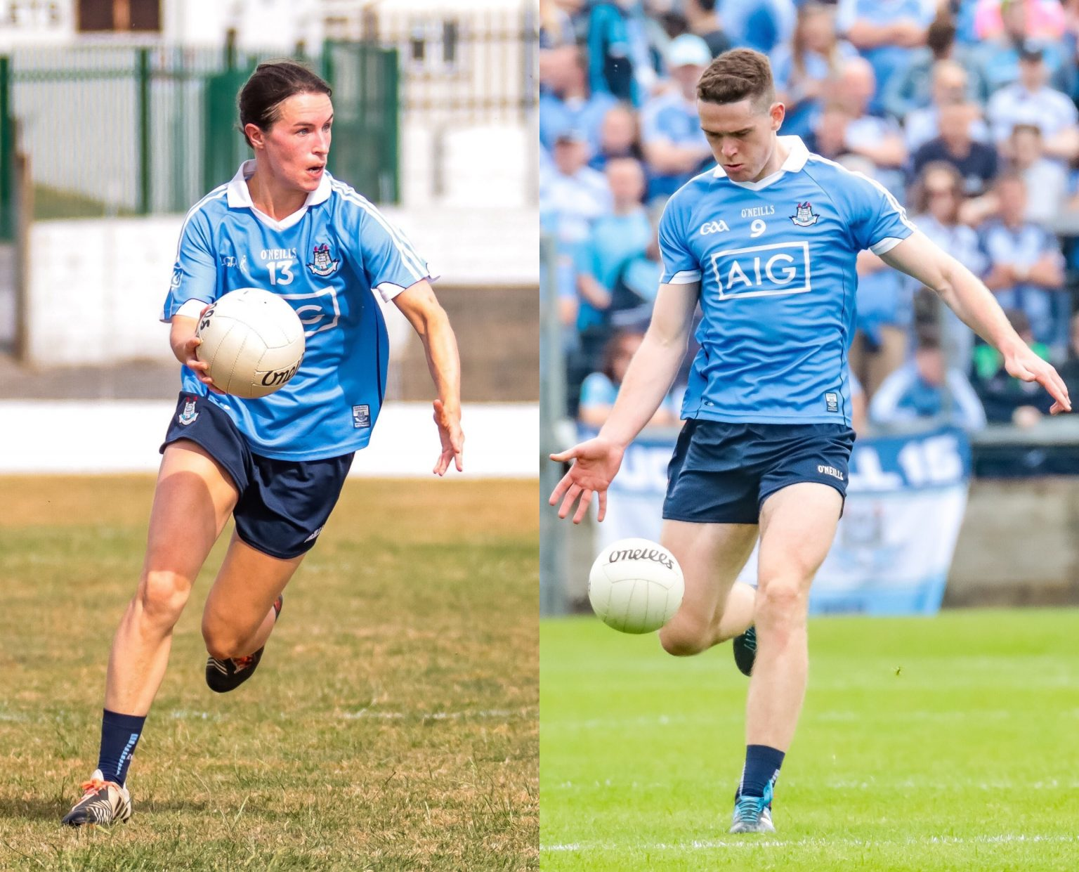 Dublin's Sinead Aherne and Brian Fenton in sky blue jerseys are both longlisted for the RTÉ Sport Sportsperson of the Year Award