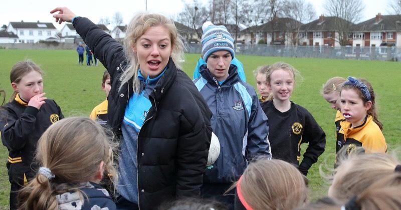 Dublin Senior Ladies Holding A Club Coaching Session