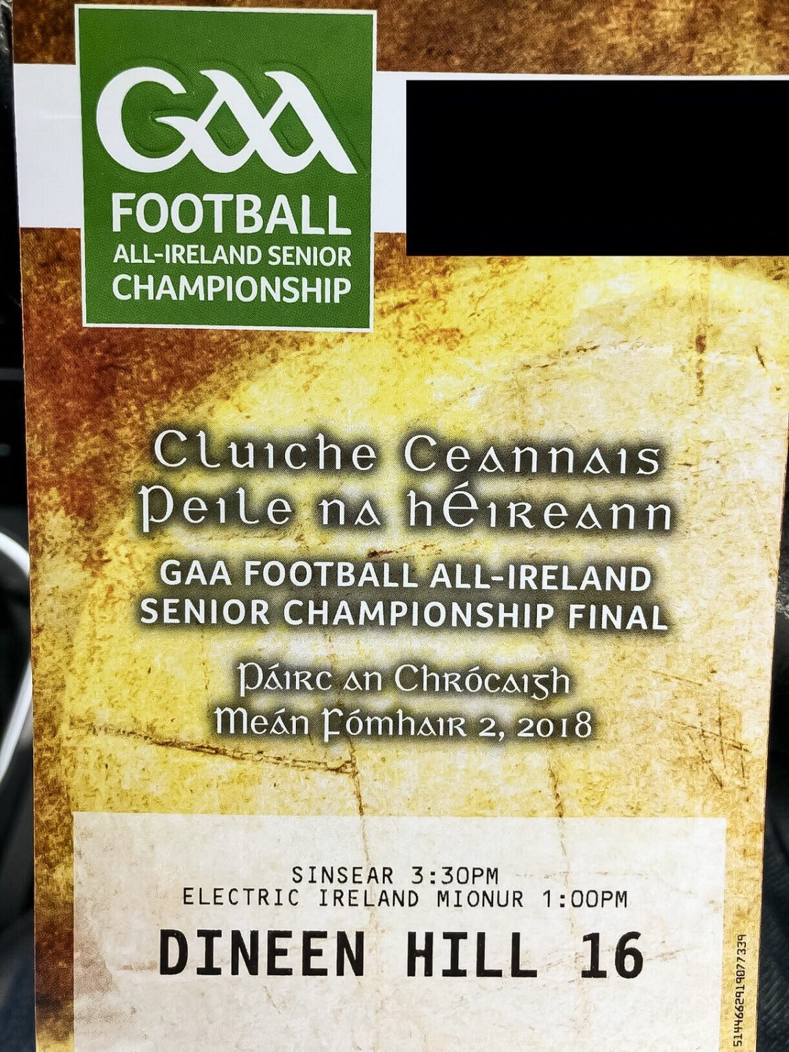 An All Ireland Football Final Ticket the GAA have announced admission price increases for league and championship games