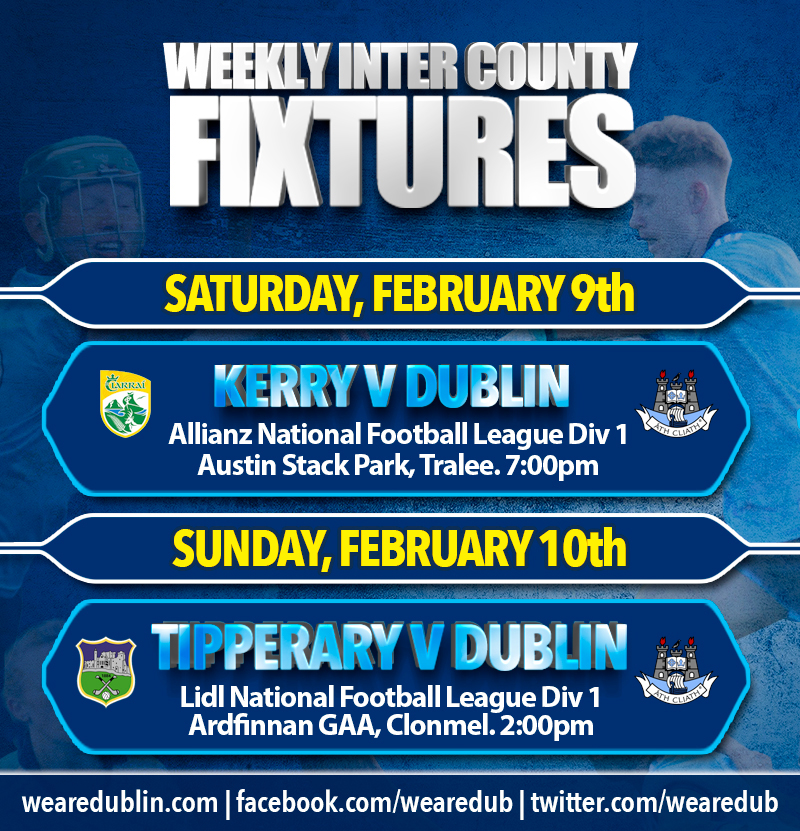 Inter County Fixtures - February 10th