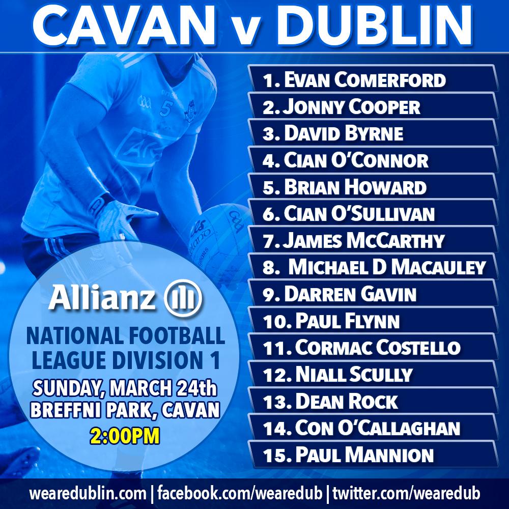 Allianz League Clash - Cavan v Dublin