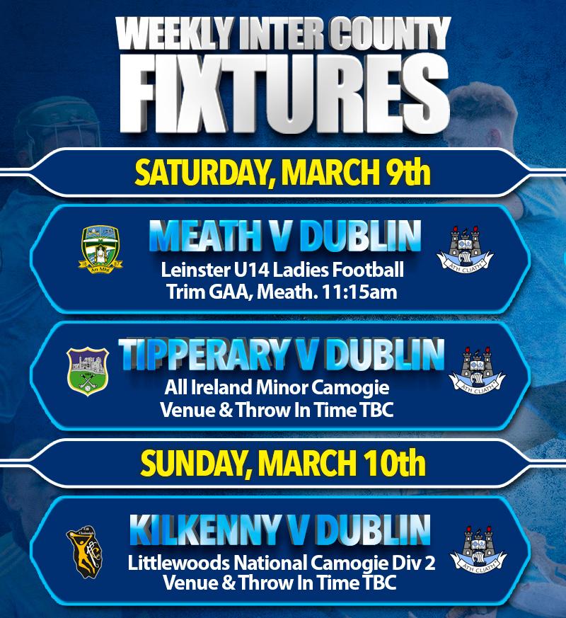 Weekly Inter County Fixtures