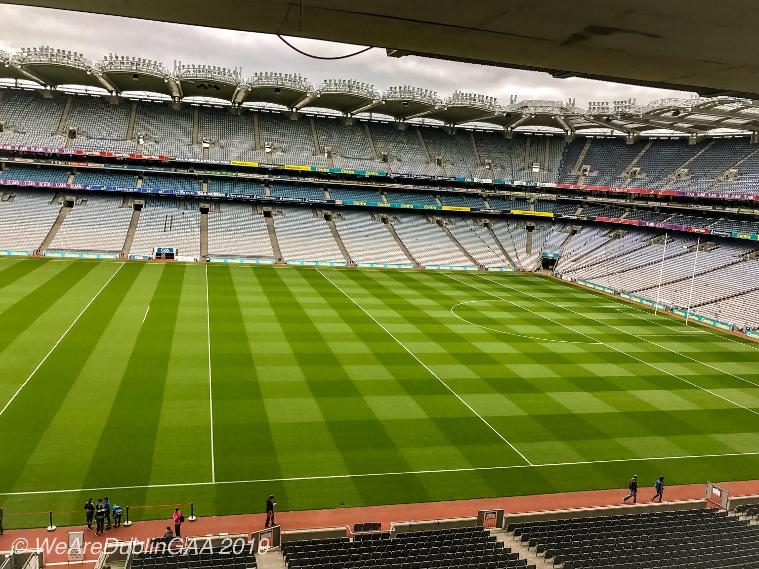 Image of Croke Park Stadium where Tyrone manager Mickey Harte is releshing playing Dublin