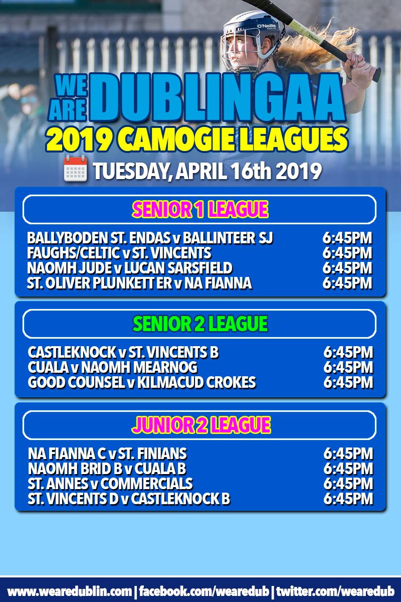 We Are Dublin GAA Senior Camogie League - Fixtures