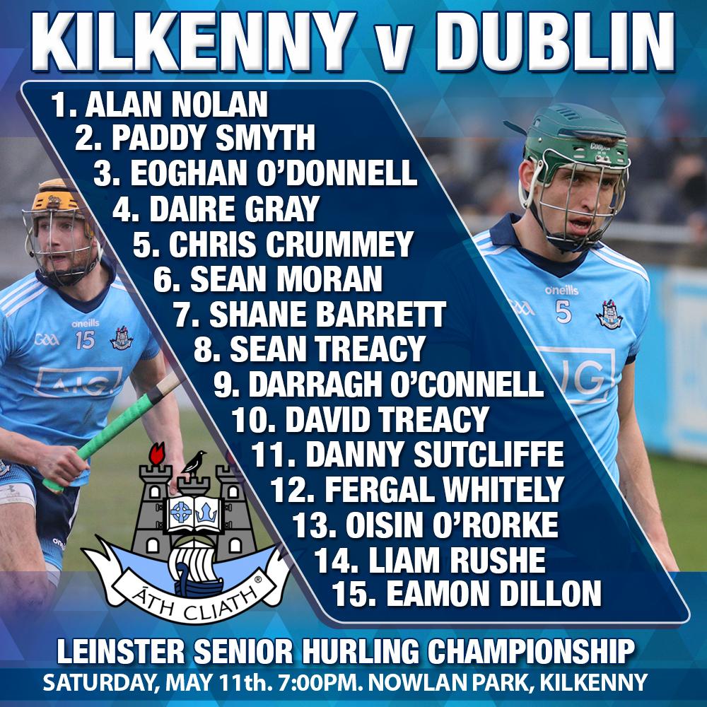 Mattie Kenny - Dublin Starting 15 Leinster Championship