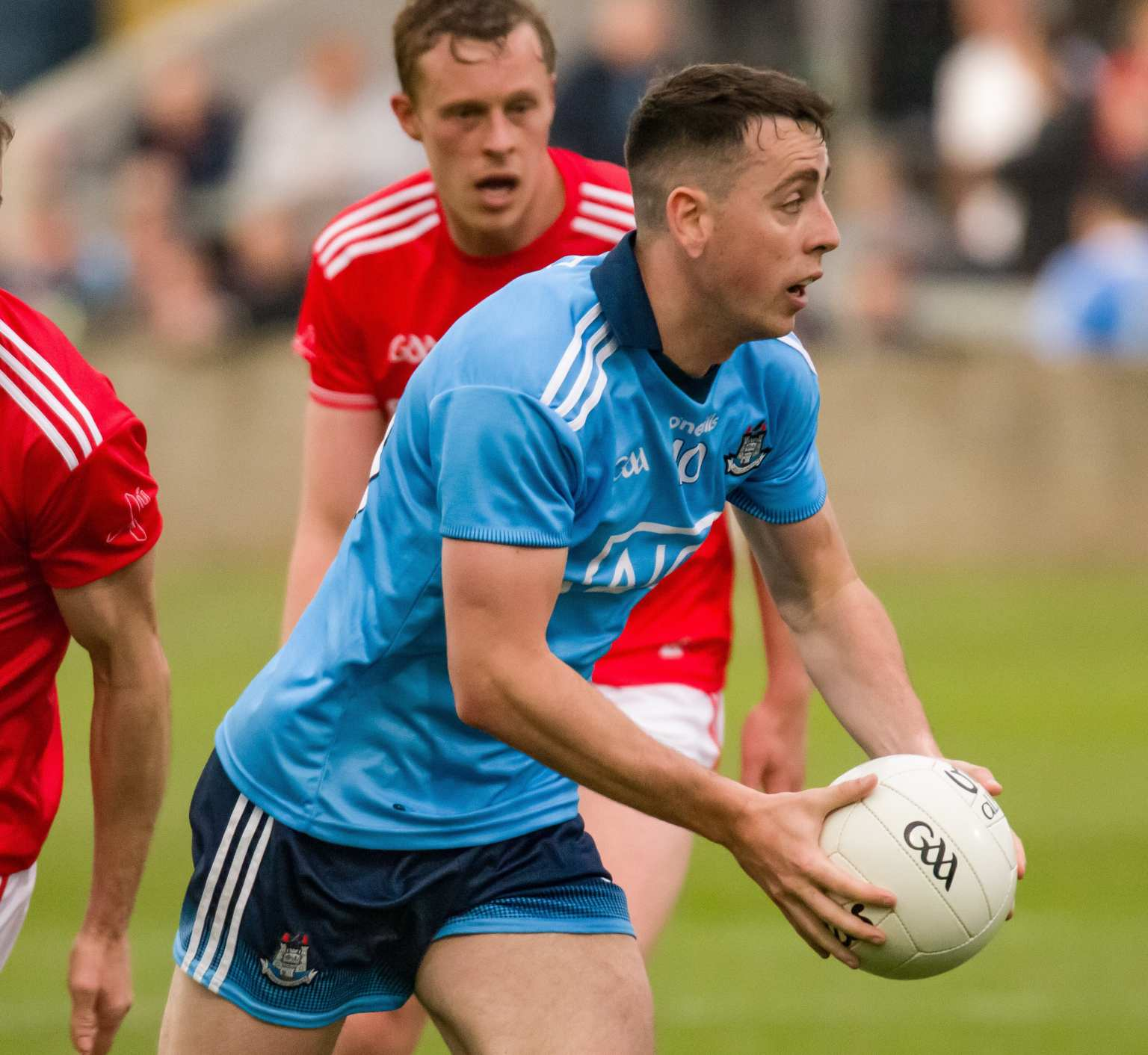 Dublin footballer Cormac Costello in action against Louth as Dublin got their drive for five up and running with a comfortable win