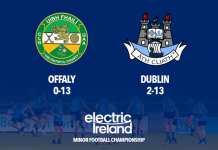 Minor Footballers - Offaly v Dublin